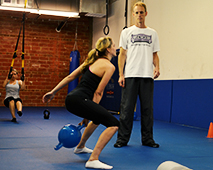 Small Group Personal Training Kettlebell Swing